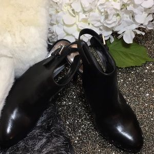 Lauren Ralph Lauren Black Leather Booties